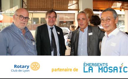 Officialisation du partenariat Rotary club de Lyon - Emergents La Mosïc